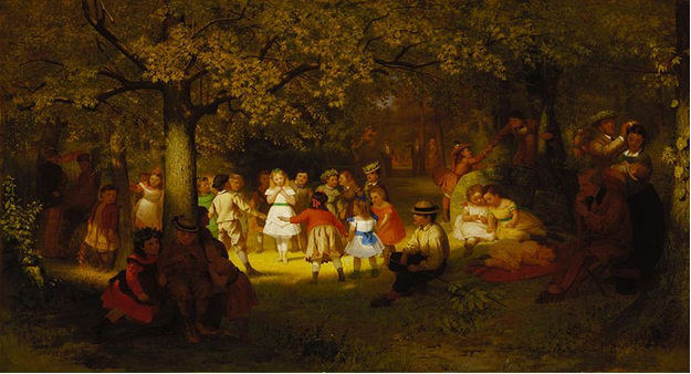File:John George Brown - Picnic Party in the Woods (1872).jpg